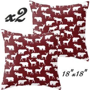 Set- 2 Christmas Throw Pillow Covers